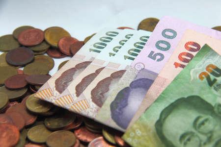 Colour dollar Coin Cash  of Thailand Money photo