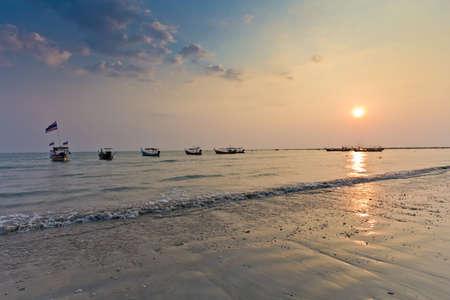 evening light on the beach clear sky photo