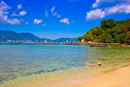 Patong paradise beach phuket ,Thailand Фото со стока