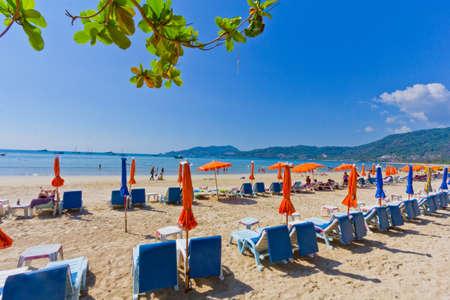 Patong paradise beach phuket ,Thailand photo