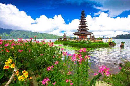 indonesia people: Pura Ulun Danu temple ,Bali Indonesia