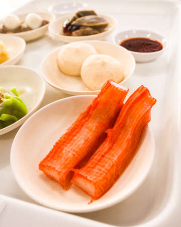 dim sum in bamboo steamer, chinese cuisine photo