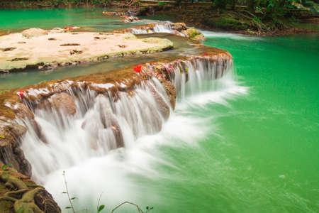 trees photography: Andaman Thailand outdoor photography of waterfall in rain jungle forest. Trees, PHUKET,KRABI,PHANGKHA Stock Photo