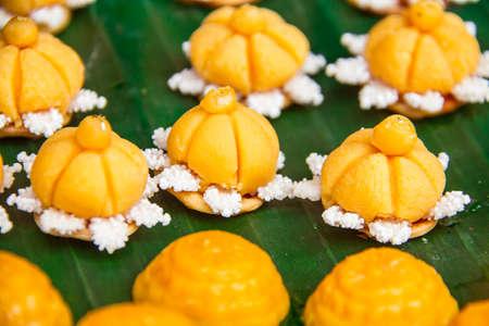 yellow variety of candies  thailand Фото со стока