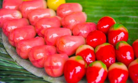 red variety of candies  thailand