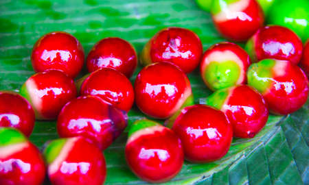 red variety of candies