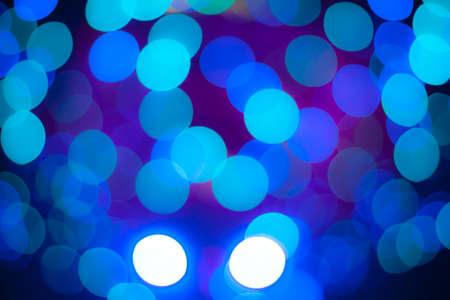 blurred circle bokeh light  pastel blue