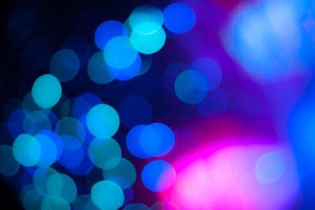 blurred circle bokeh light  pastel plue
