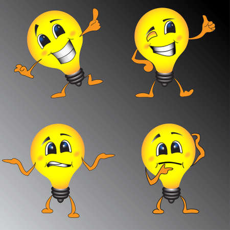 aha: Smart Lamp Smile Facies Illustration