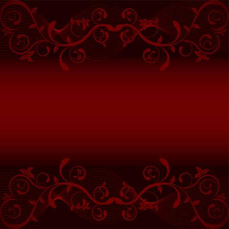 rojo oscuro: Hojas en fondo rojo oscuro