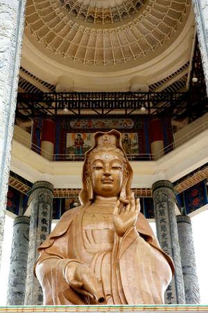 Kuan Yin statue at Kek Lok Si Temple, Malaysia photo