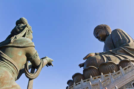 Big Buddha and Fairy at Po Lin Monastery in Hong Kong Stock Photo - 8503393