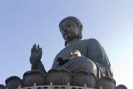 Big Buddha at Po Lin Monastery in Hong Kong photo