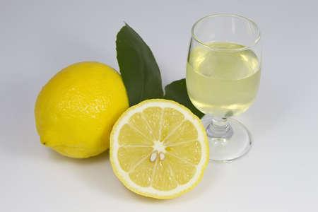 Limoncello and Lemons Stock Photo