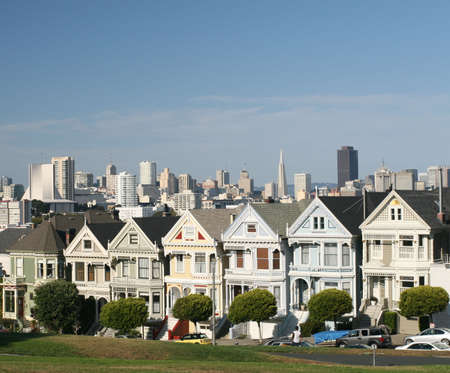 The famous painted ladies of San Francisco photo