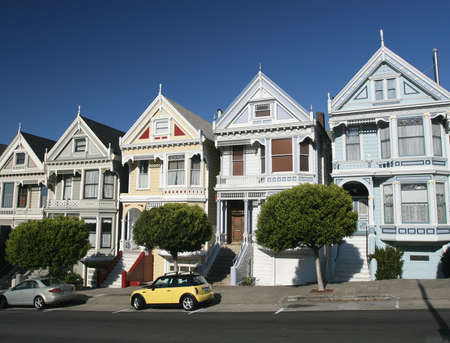Traditional Victorian Homes in San Francisco 版權商用圖片 - 2746548