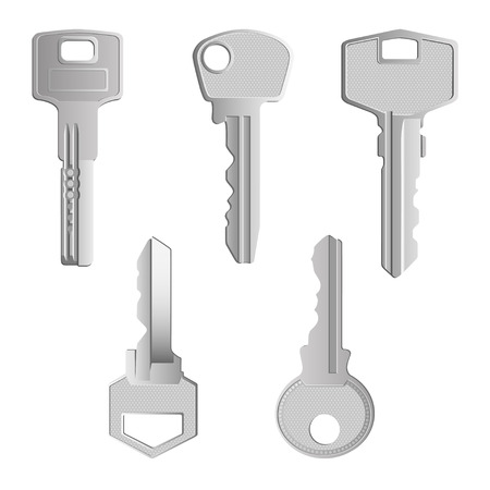 A set of realistic keys of different forms