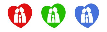 A logo with family figures in a heart photo