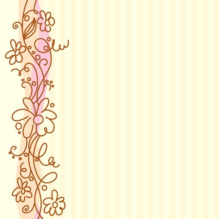 ringlet: A square background with vertical decorative border