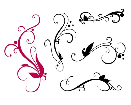 A set of flourishes for design
