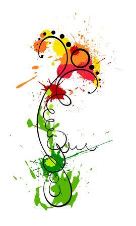 liquid summer: A stylized flower of blobs