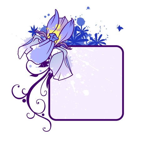 A text blank with an iris bud photo