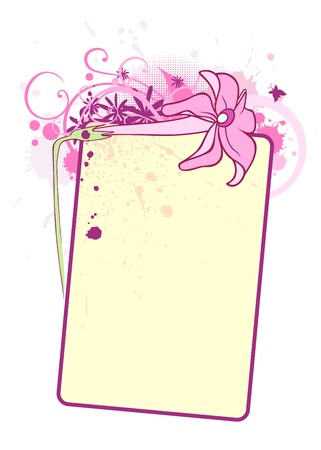 A text blank with a flower and decorative elements photo