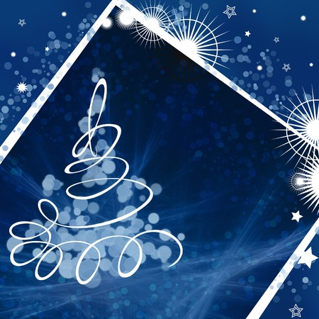 A square card with new year tree photo