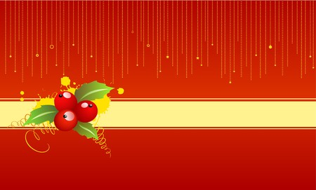 A christmas background with a holly Stock Photo - 8023181