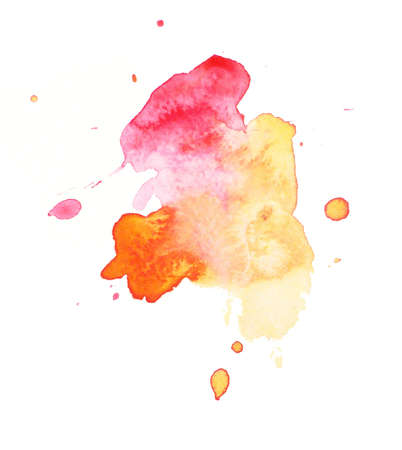 An abstract water-coloured painted blot