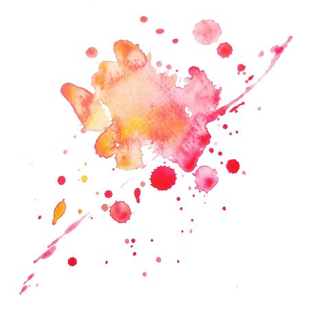 paint splashes: An abstract water-coloured painted blot