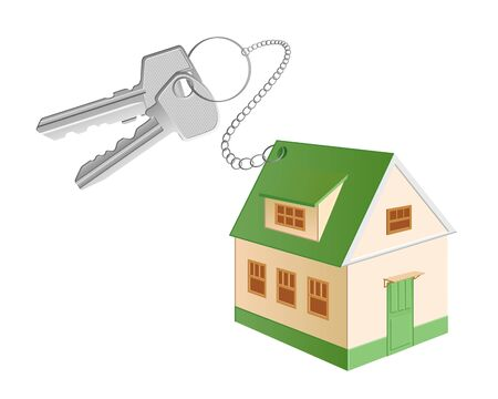 A cottage shaped trinket with two keys Stock Photo - 8282012
