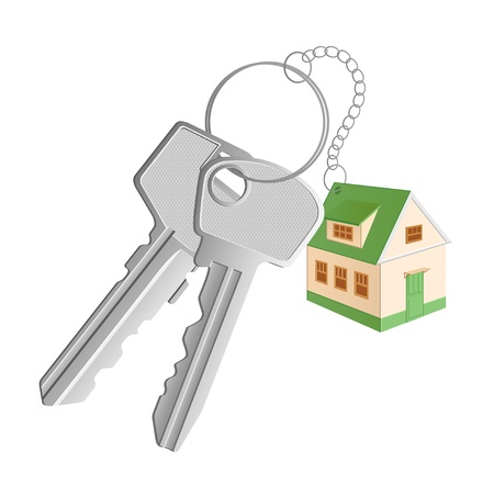 A cottage shaped trinket with two keys Stock Photo - 8282014
