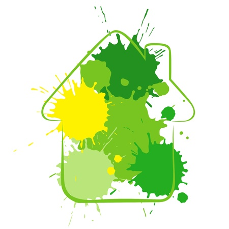A metaphorical ecological house of blots Stock Photo - 8281972