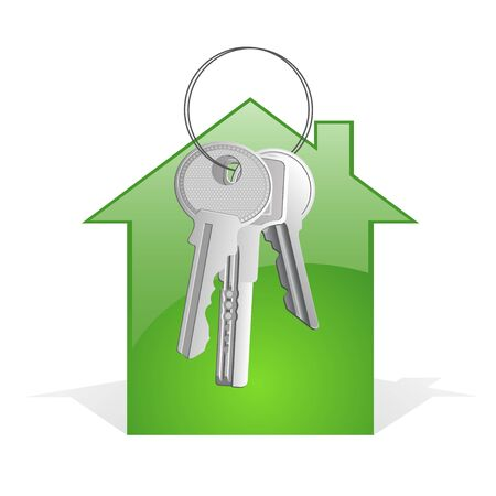 A bunch of keys with abstract house Stock Photo - 8281965