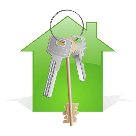 A bunch of keys with abstract house  Stock Photo - 8281961