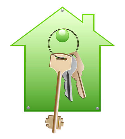 A bunch of keys with house-shaped support Stock Photo - 8282018