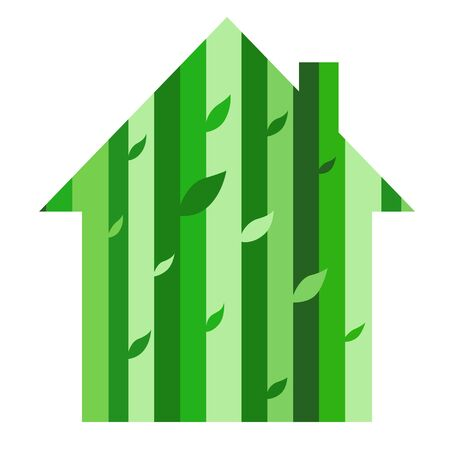metaphorical: A metaphorical ecohouse with tree leaves