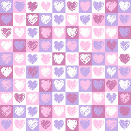 A square background with hearts pattern in pink and vinous colours Stock Photo - 8282263
