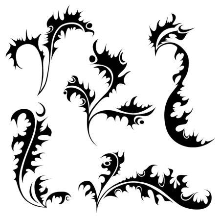 ringlet: A set of ornamental floral elements