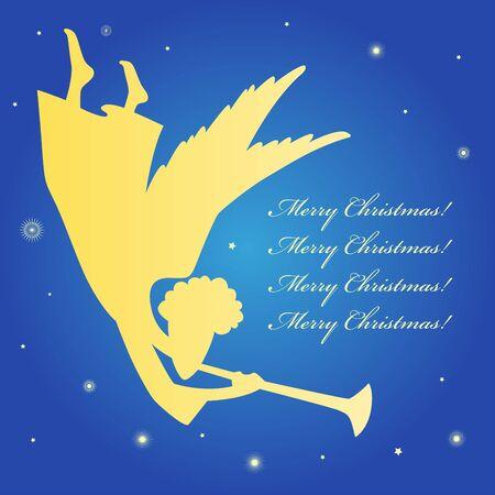 A christmas card with an angel Vector
