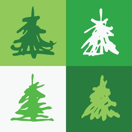 A seamless texture with christmas trees Vector