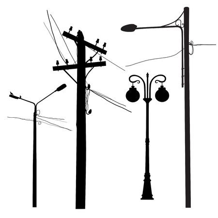 A set of various urban posts Vector