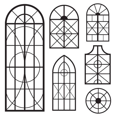 A set of various window shapes photo