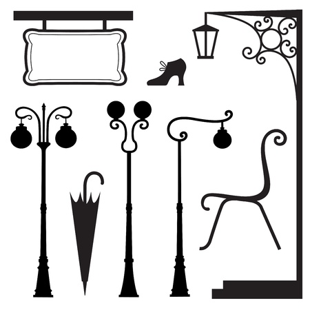 A set of vintage elements Stock Vector - 18564173