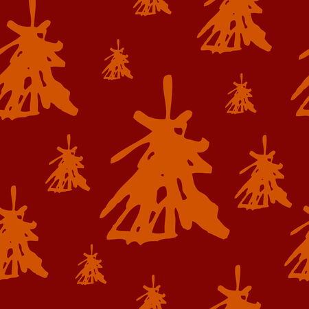 A seamless chrismas pattern with christmas trees