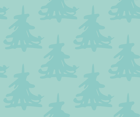 A seamless pattern with christmas trees Stock Photo