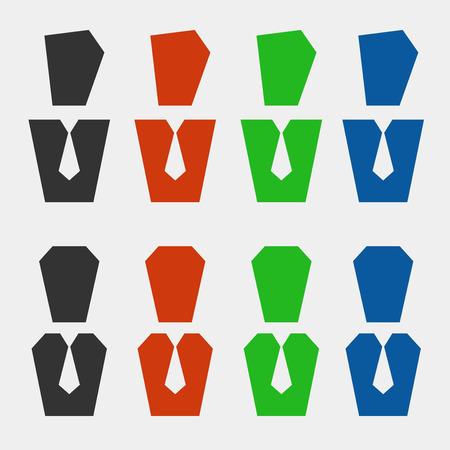 succes: A set of business pictogram avatars