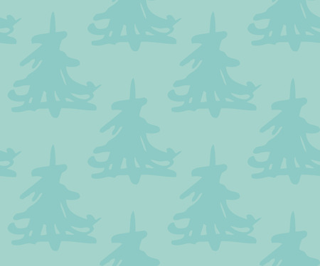 A seamless pattern with christmas trees Illustration