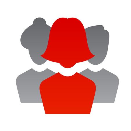 teamleider: Een Business illustratie met een teamleider